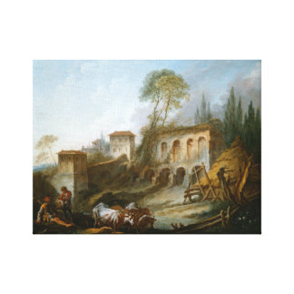 Palatine Hill from Campo Vaccino Canvas Print