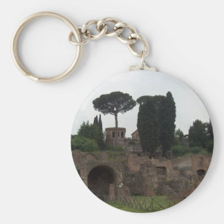 Palatine Hill in Rome, Italy Basic Round Button Keychain