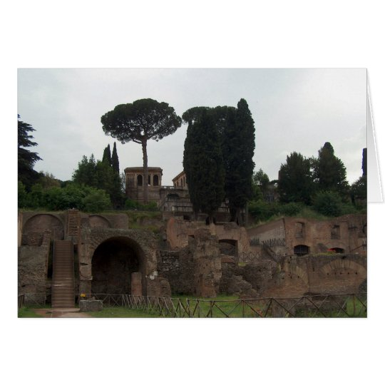 Palatine Hill in Rome, Italy Card
