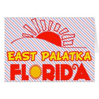 Palatka del este, la Florida Felicitación
