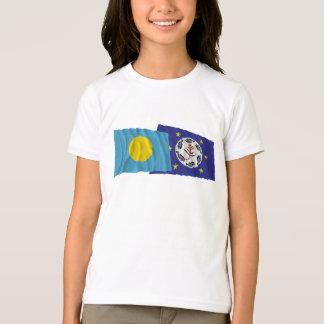 Palau and Airai Waving Flags T-Shirt