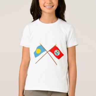 Palau and Ngiwal Crossed Flags T-Shirt