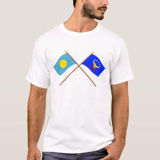 Palau and Peleliu Crossed Flags T-Shirt