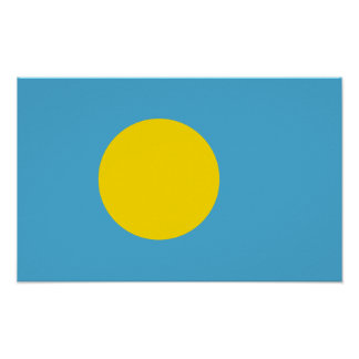 Palau - bandera de Palauan Poster