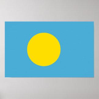 Palau - bandera de Palauan Póster