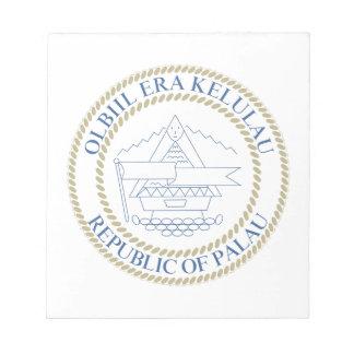 palau - emblem flag coat of arms symbol note pad