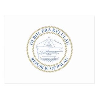 palau - emblem / flag / coat of arms / symbol postcard