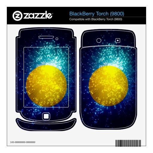 Palau Flag; Fireworks BlackBerry Decal