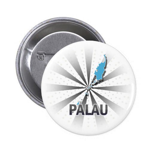 Palau Flag Map 2.0 Pinback Button