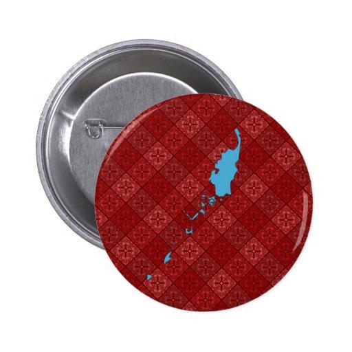 Palau Flag Map full size Pinback Button