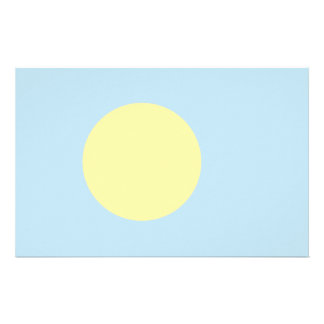 Palau Flag Stationery Paper