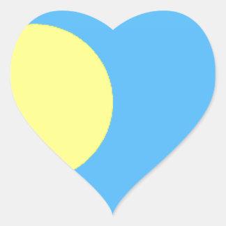 Palau Flag Heart Sticker