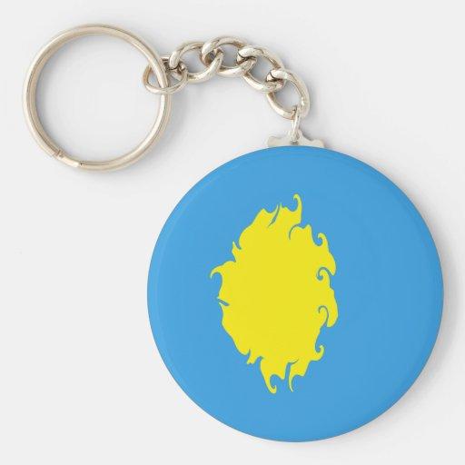 Palau Gnarly Flag Basic Round Button Keychain