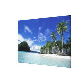 Palau, islas de la roca, isla de la luna de miel,  lona envuelta para galerias