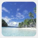 Palau, islas de la roca, isla de la luna de miel, pegatina cuadrada