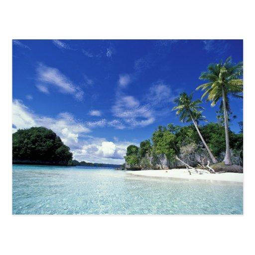 Palau, islas de la roca, isla de la luna de miel, tarjeta postal