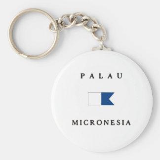 Palau Micronesia Alpha Dive Flag Keychain