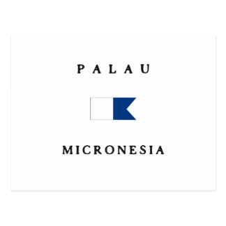 Palau Micronesia Alpha Dive Flag Postcard