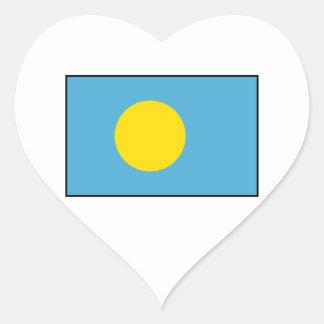 Palau – Palauan Flag Heart Sticker