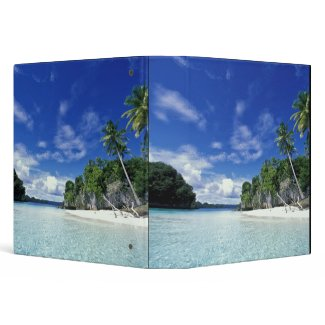 Palau, Rock Islands, Honeymoon Island, World zazzle_binder