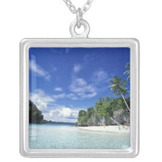 Palau, Rock Islands, Honeymoon Island, World Silver Plated Necklace