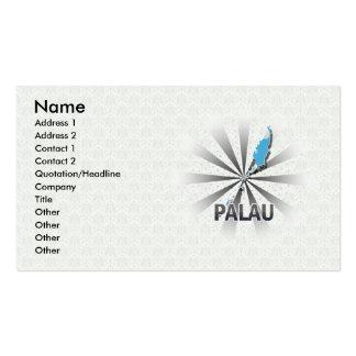 Palau señala el mapa por medio de una bandera 2,0 tarjetas de visita