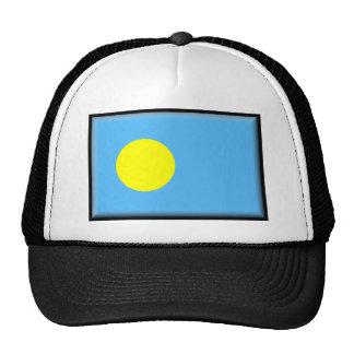 Palau señala por medio de una bandera gorro de camionero