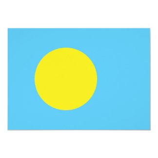 """Palau señala por medio de una bandera invitación 5"""" x 7"""""""