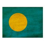 Palau señala por medio de una bandera tarjetas postales