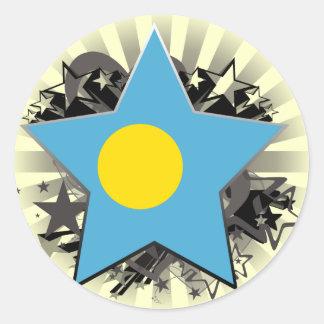 Palau Star Round Sticker
