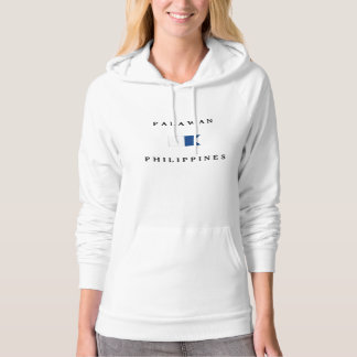 Palawan Philippines Alpha Dive Flag Hoodie
