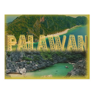 "Palawan ""the best island in the world"" postcard"