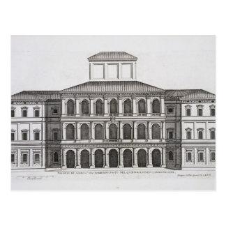 Palazzo Barberini en el Quirinale, acabado 1630, Tarjetas Postales