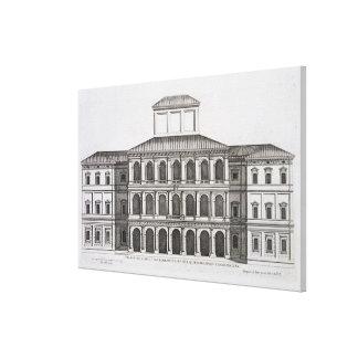 Palazzo Barberini on the Quirinale, finished 1630, Canvas Print