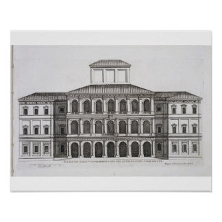 Palazzo Barberini on the Quirinale, finished 1630, Poster