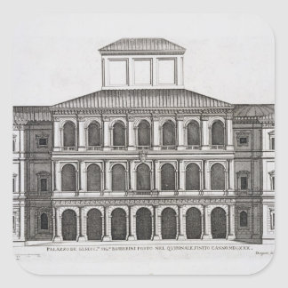 Palazzo Barberini on the Quirinale, finished 1630, Square Sticker