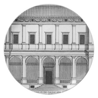 Palazzo Chigi en el Lungara, Roma, de 'Palazzi Plato De Comida