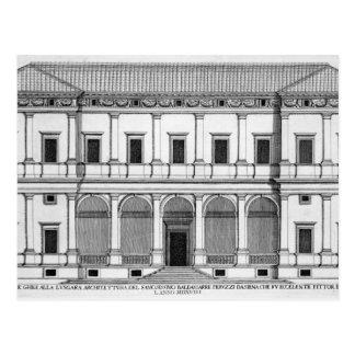 Palazzo Chigi en el Lungara, Roma, de 'Palazzi Postal