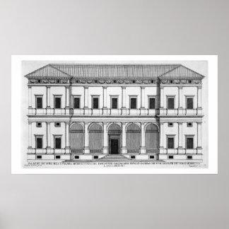 Palazzo Chigi en el Lungara, Roma, de 'Palazzi Póster
