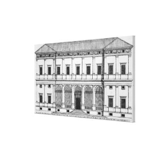Palazzo Chigi on the Lungara, Rome, from 'Palazzi Canvas Print