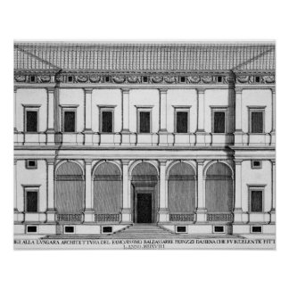 Palazzo Chigi on the Lungara, Rome, from 'Palazzi Poster
