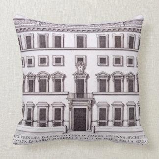 Palazzo Chigi, Piazza Colonna, Rome, from 'Palazzi Pillow