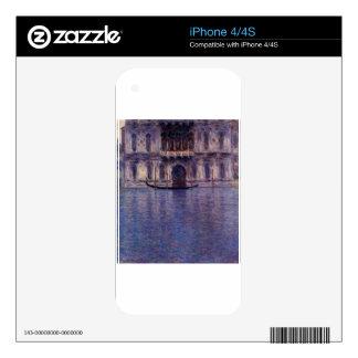 Palazzo Contarini 2 by Claude Monet iPhone 4 Skin