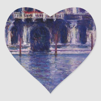 Palazzo Contarini by Claude Monet Heart Sticker