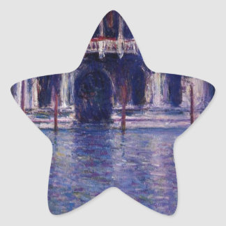 Palazzo Contarini by Claude Monet Star Sticker