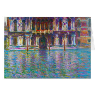Palazzo Contarini Claude Monet Card