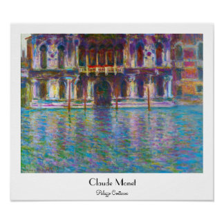 Palazzo Contarini Claude Monet Poster