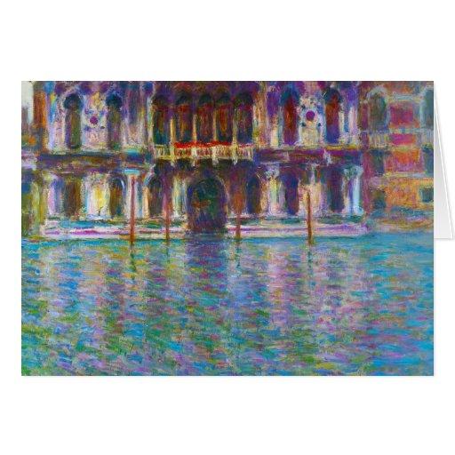 Palazzo Contarini Claude Monet Tarjeta