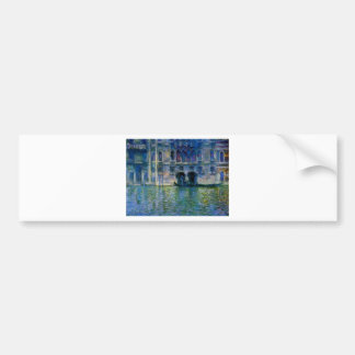 Palazzo da Mula at Venice by Claude Monet Bumper Sticker