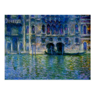 Palazzo da Mula at Venice by Claude Monet Postcard